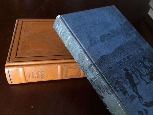 Tom Sawyer (Twain) får staga upp den fina fina utgåvan av Mina drömmars stad (Fogelström)