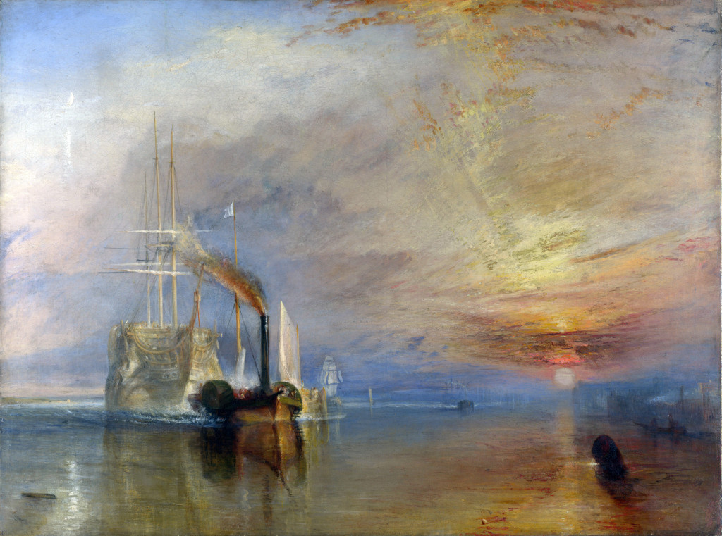 JMW Turner The Fighting Téméraire tugged to her last Berth to be broken